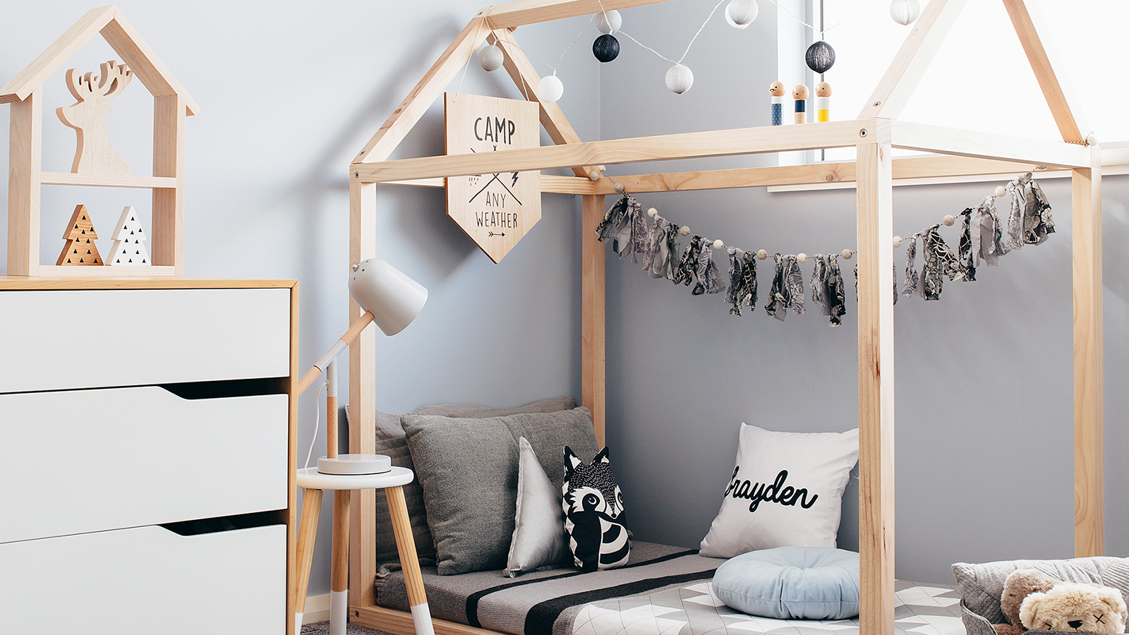 House Frame Toddler Bed Base
