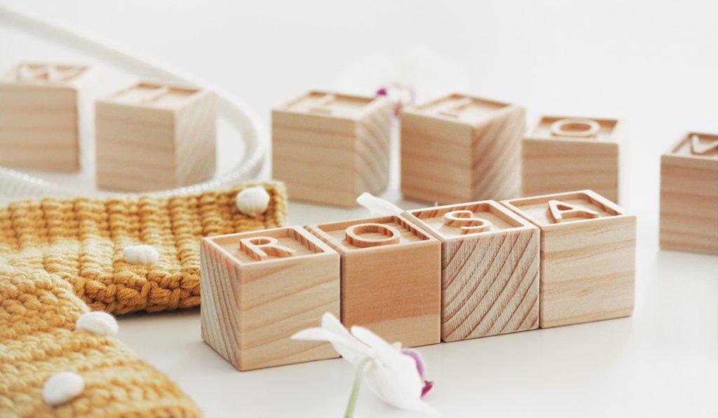 Engraved Wooden bocks